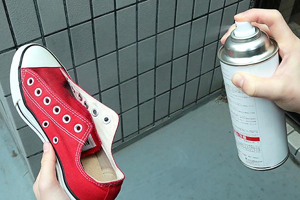 防水スプレーを使う