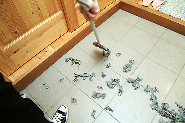 玄関:お掃除方法