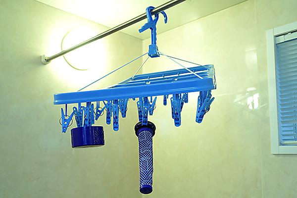 洗ったフィルターを乾燥させる