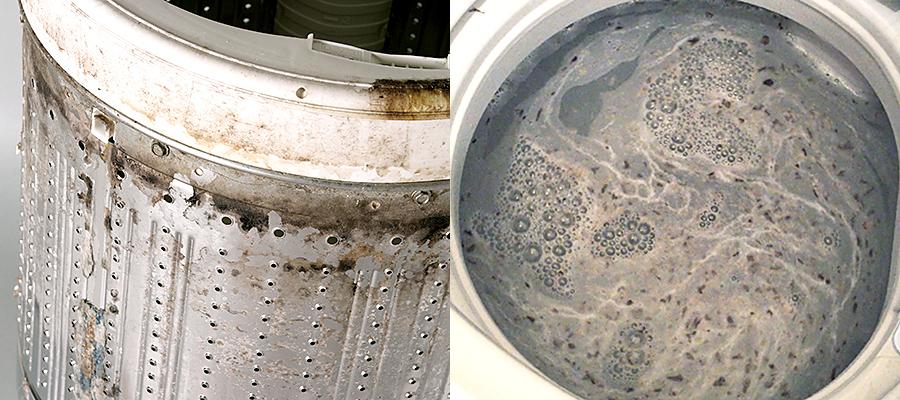 カビなどの汚れが大量にでると危険
