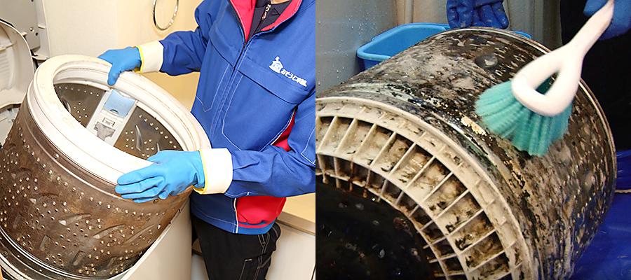 プロによる洗濯機の分解洗浄