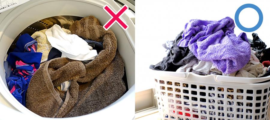洗濯後の衣類は入れたままにしない
