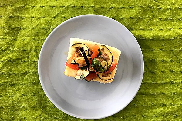 【生理不順に】揚げ豆腐のさっぱり夏野菜浅漬け風のせ