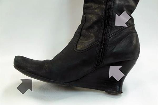 ブーツで見逃しがちな汚れやすい箇所
