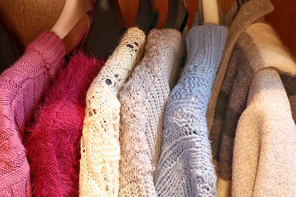 冬物衣類は春夏は収納を圧迫する存在に・・